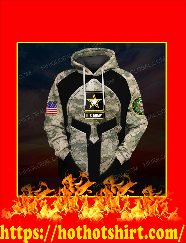 US Army Spartan All Over Printed 3d Hoodie
