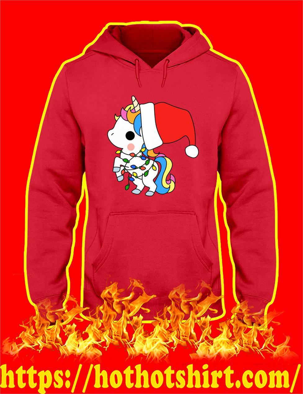 Unicorn Santa Christmas hoodie