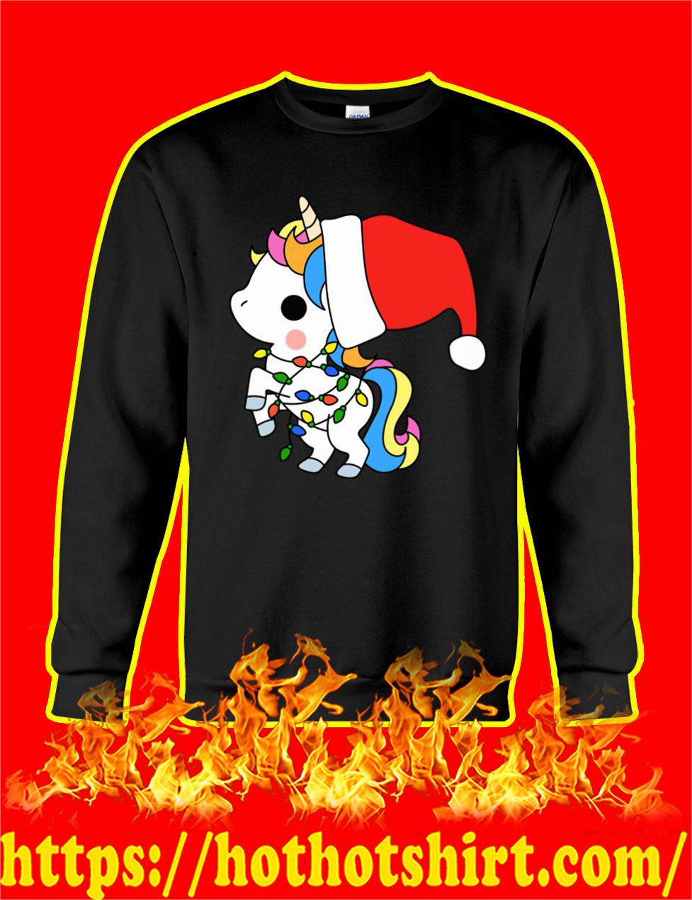 Unicorn Santa Christmas sweatshirt