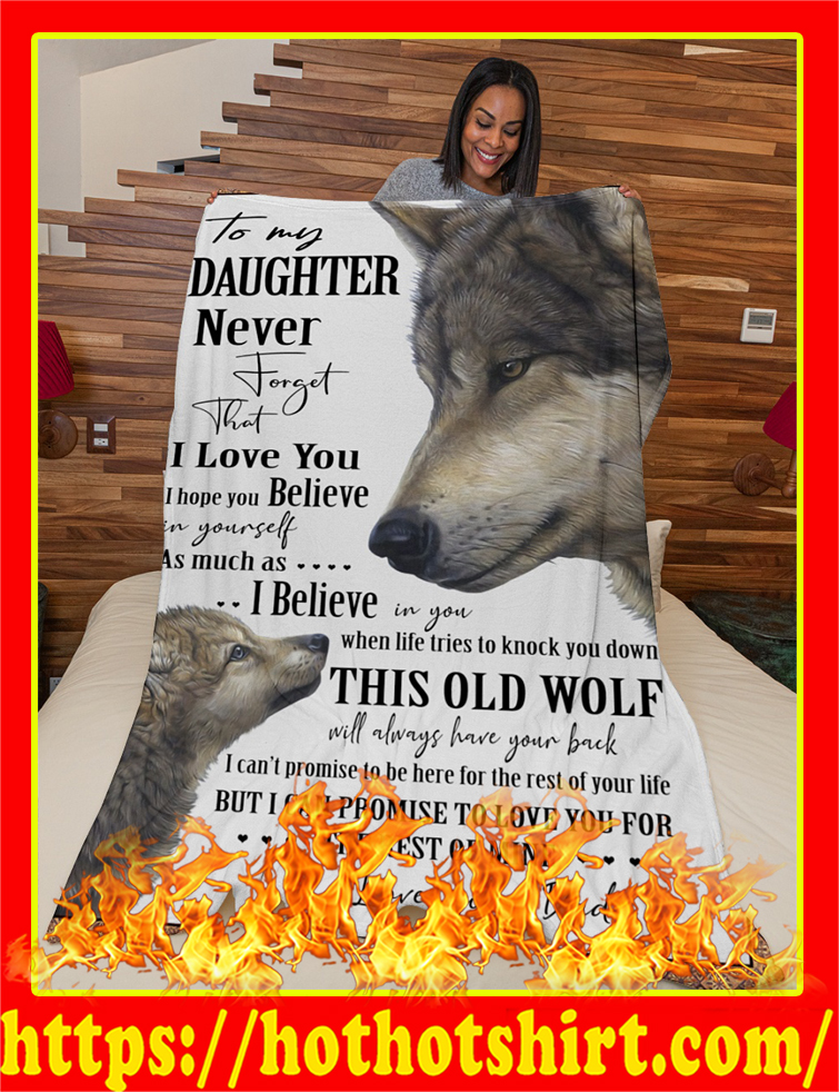 Wolf To My Daughter Blanket-x large