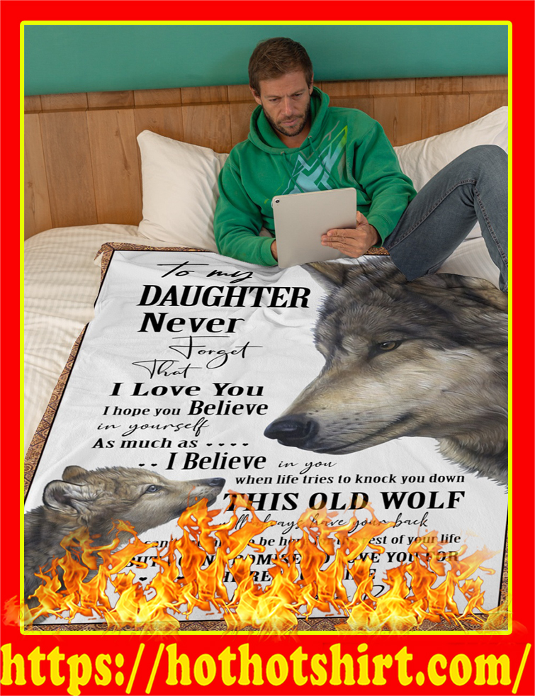 Wolf To My Daughter Blanket-youth