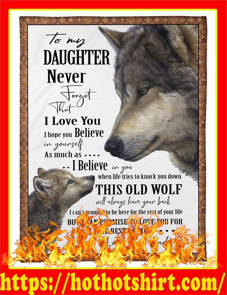 Wolf To My Daughter Blanket