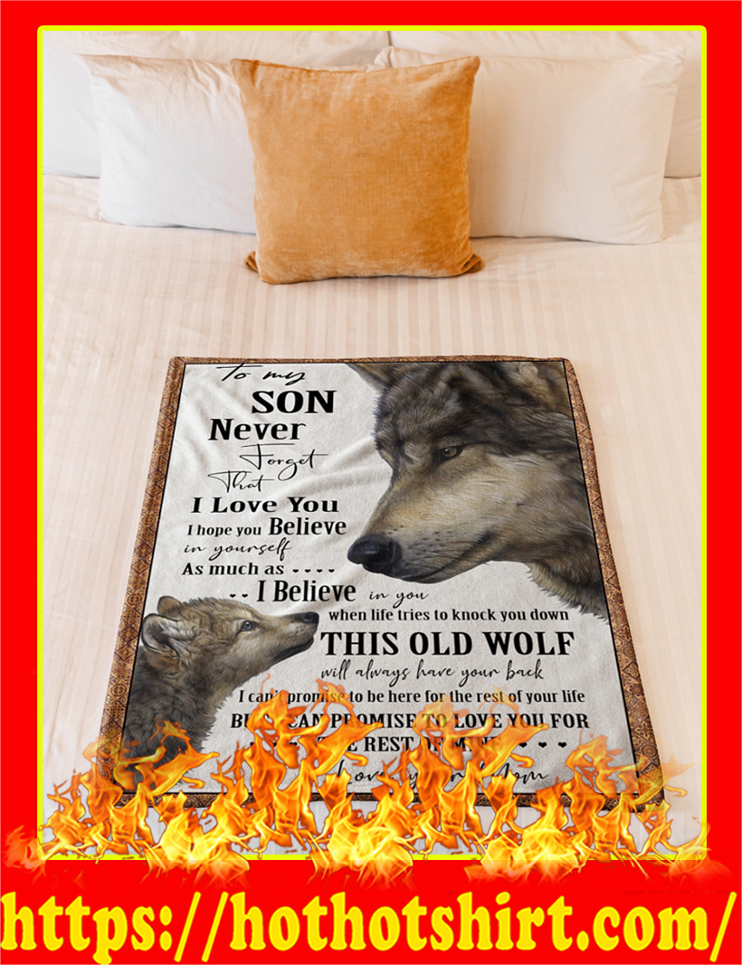 Wolf To My Son Blanket-large