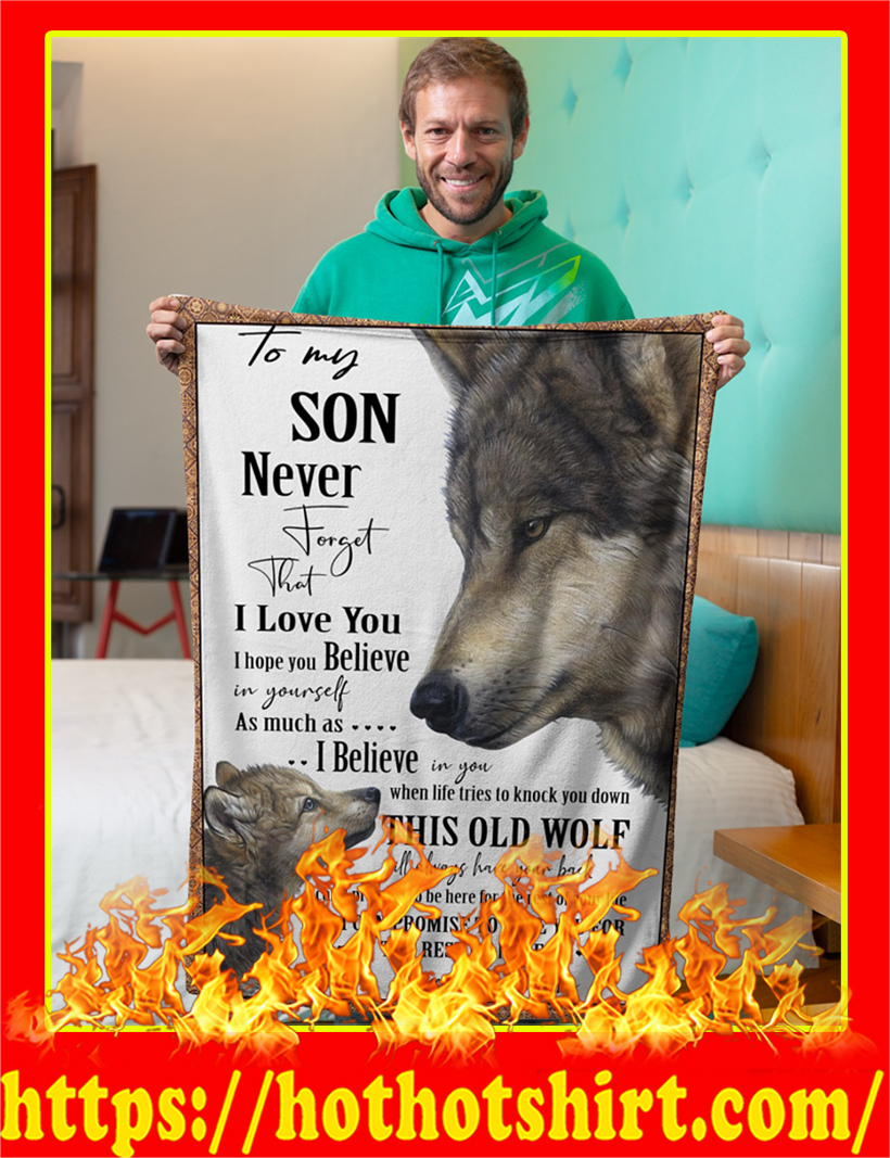 Wolf To My Son Blanket-x large