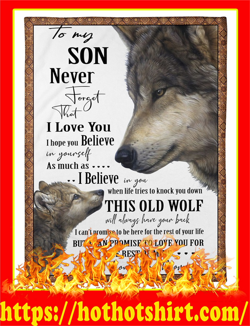 Wolf To My Son Blanket
