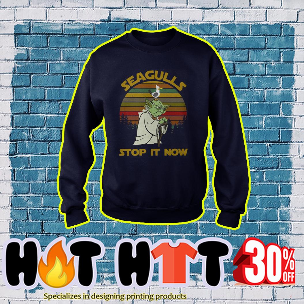 Yoda Seagulls Stop It Now Star Wars sweatshirt