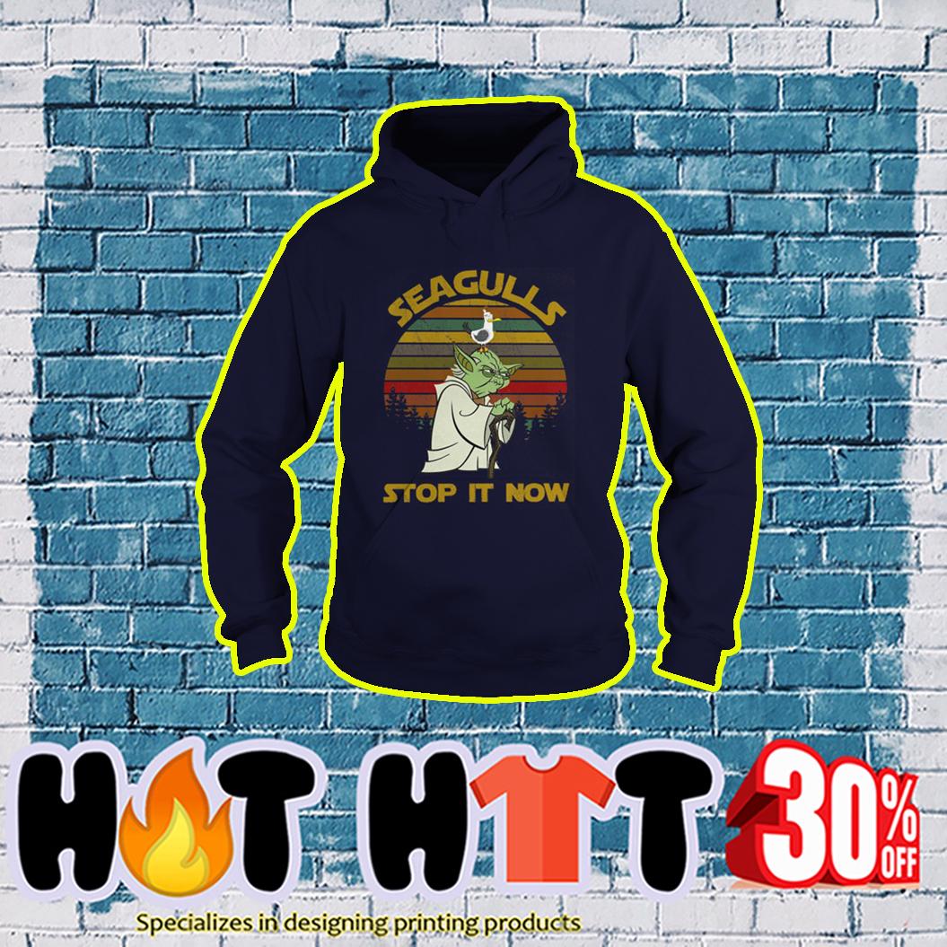Yoda Seagulls Stop It Now Vintage Retro hoodie