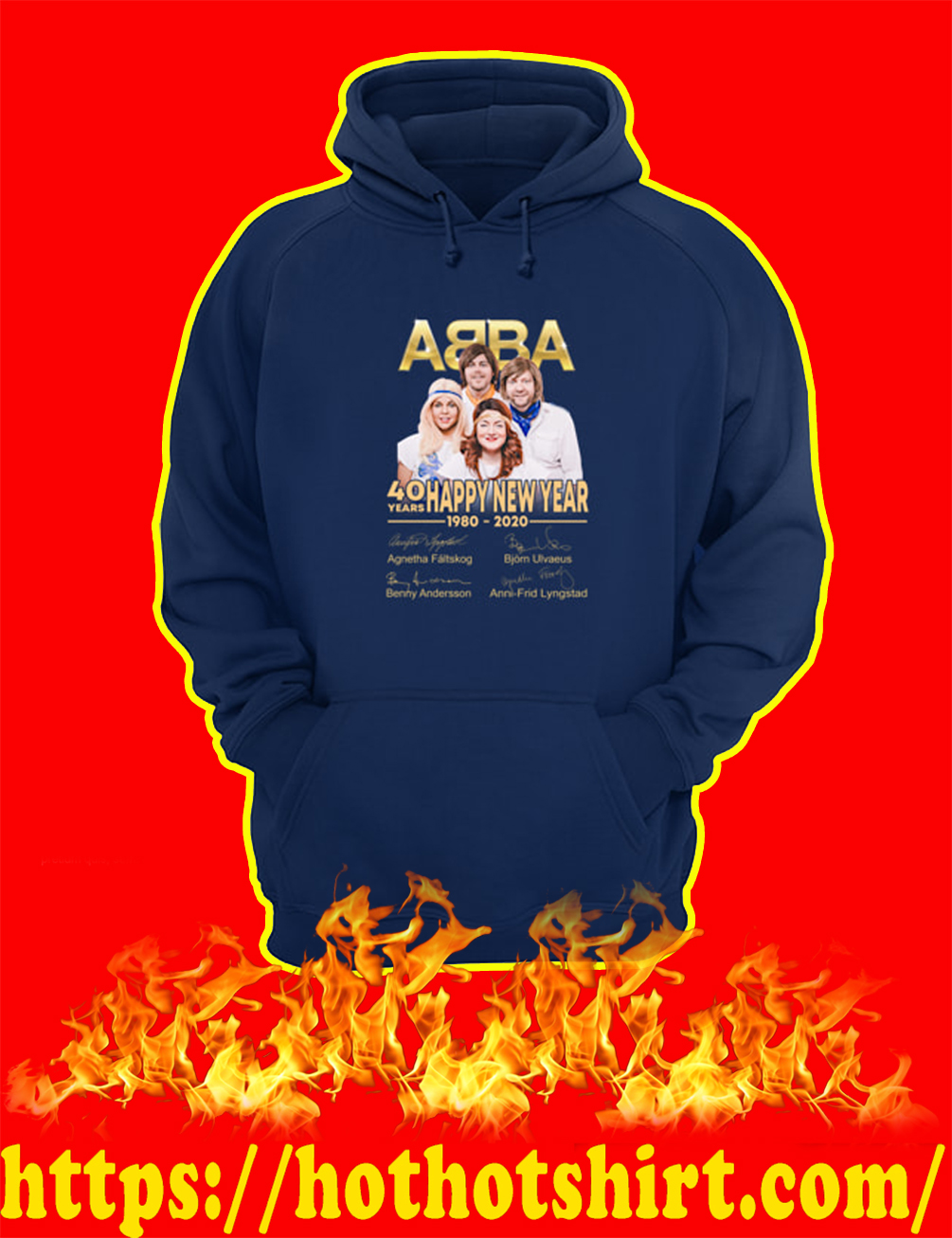 ABBA 40 Years Happy New Year 1980 2020 hoodie