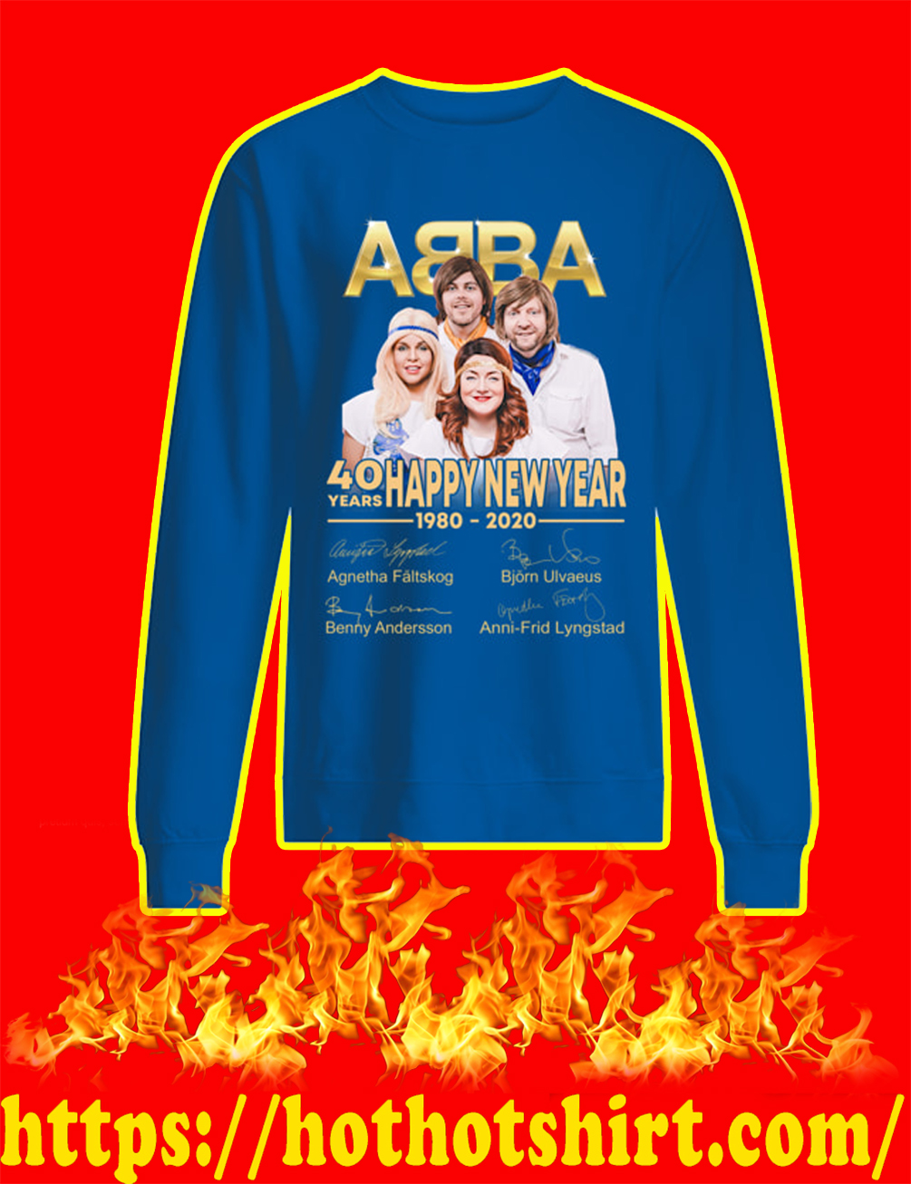 ABBA 40 Years Happy New Year 1980 2020 sweatshirt