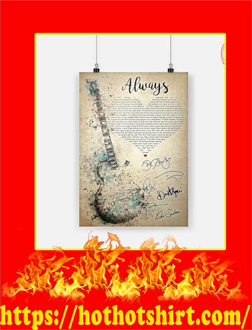 Always Bon Jovi Signature Poster - A3