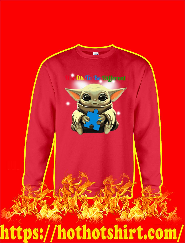 Baby Yoda Autism It's Ok To Be Different sweatshirt