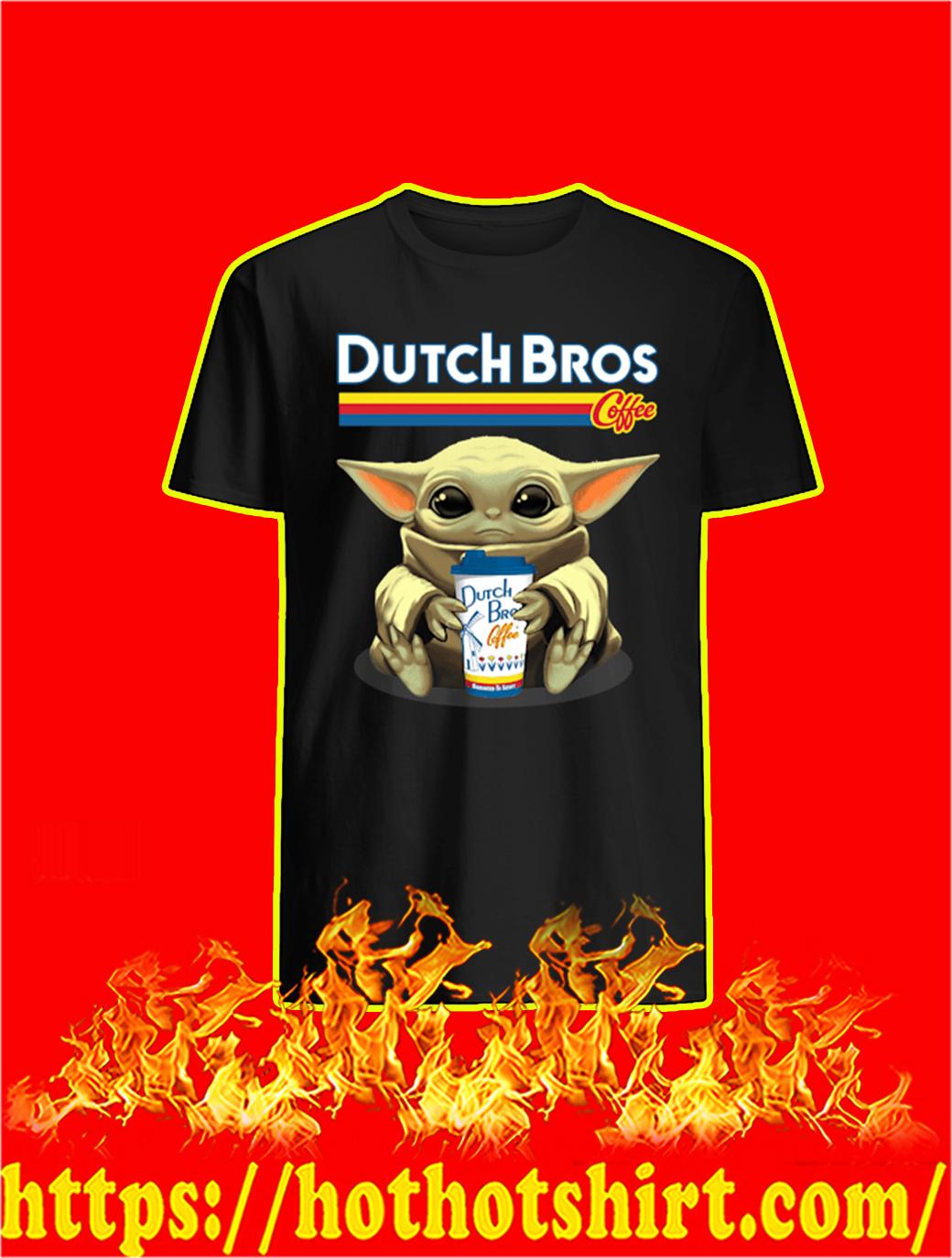 Baby Yoda Dutch Bros Coffee shirt