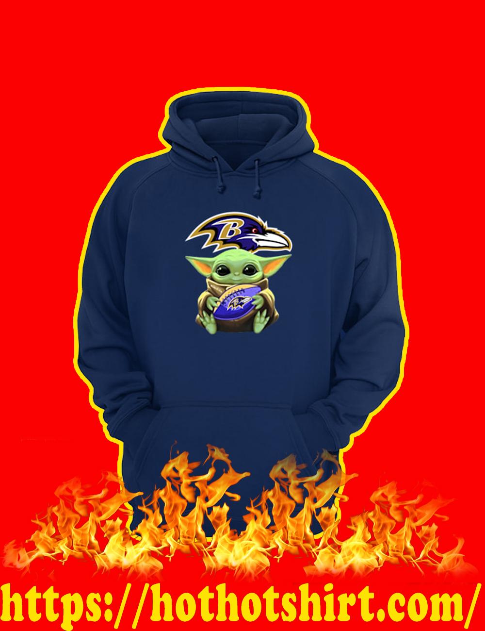 Baby Yoda Hug Baltimore Ravens Hoodie