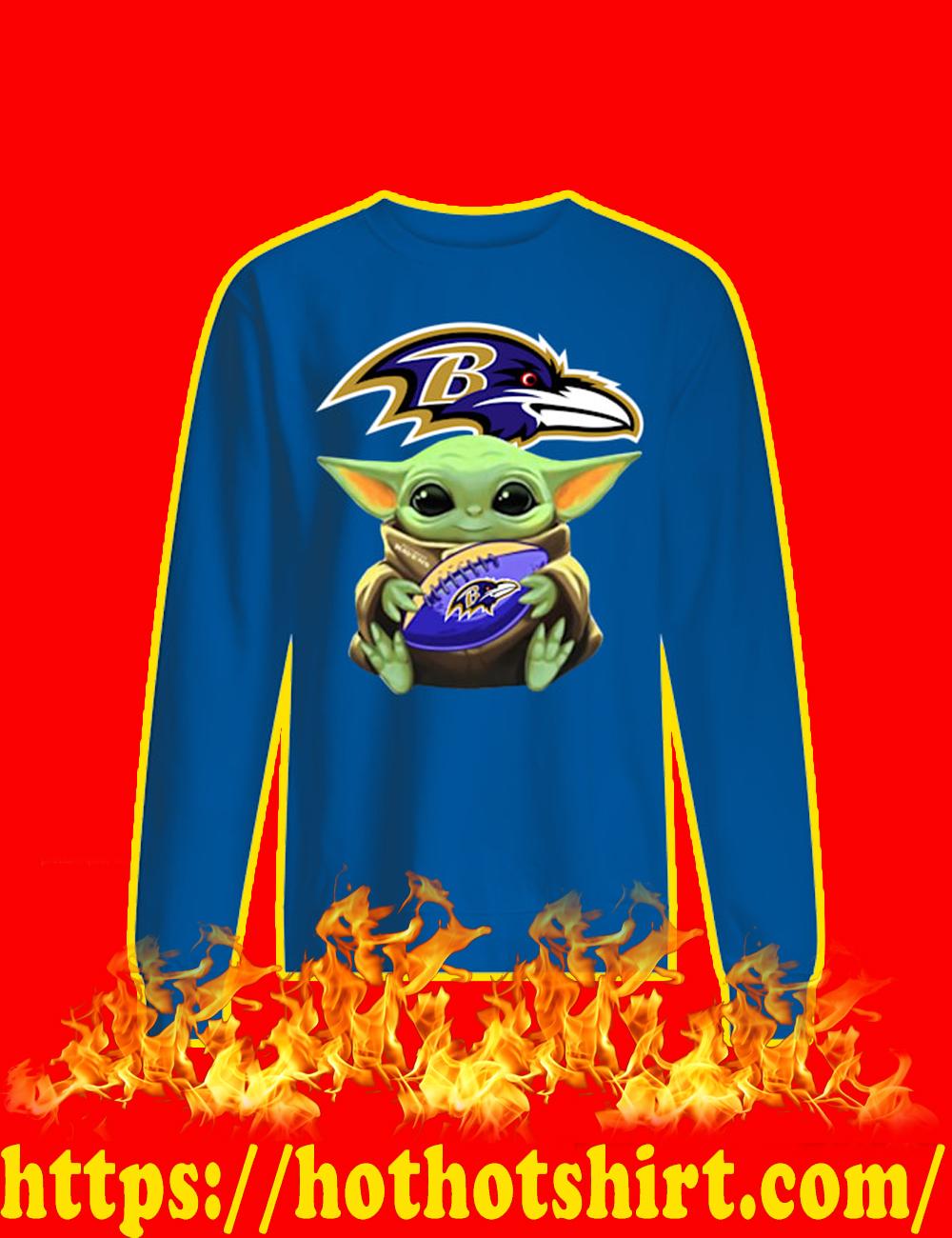 Baby Yoda Hug Baltimore Ravens sweatshirt