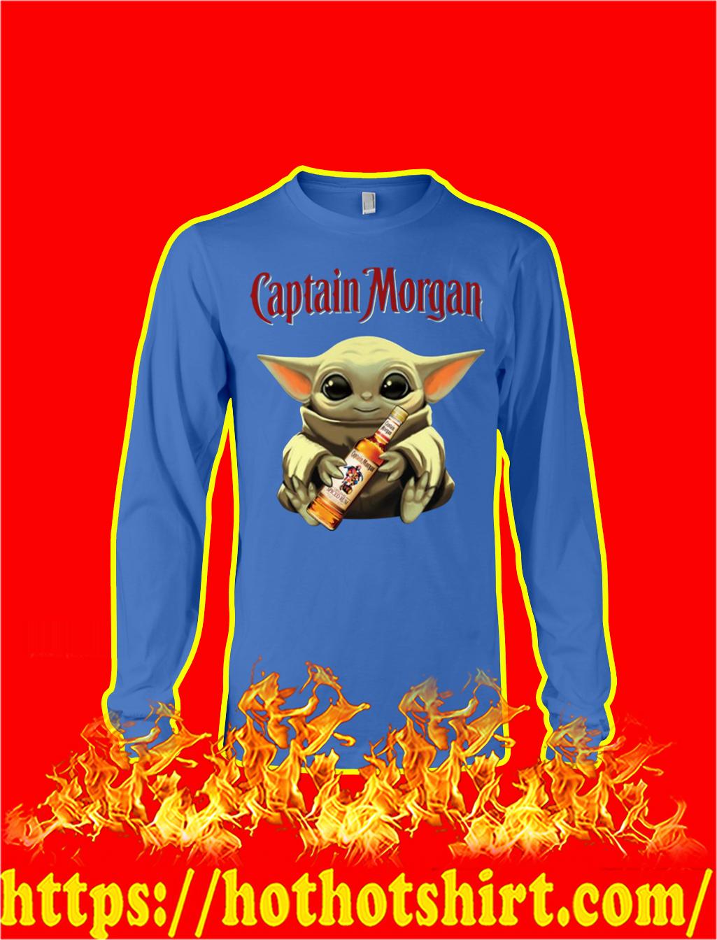 Baby Yoda Hug Captain Morgan longsleeve tee
