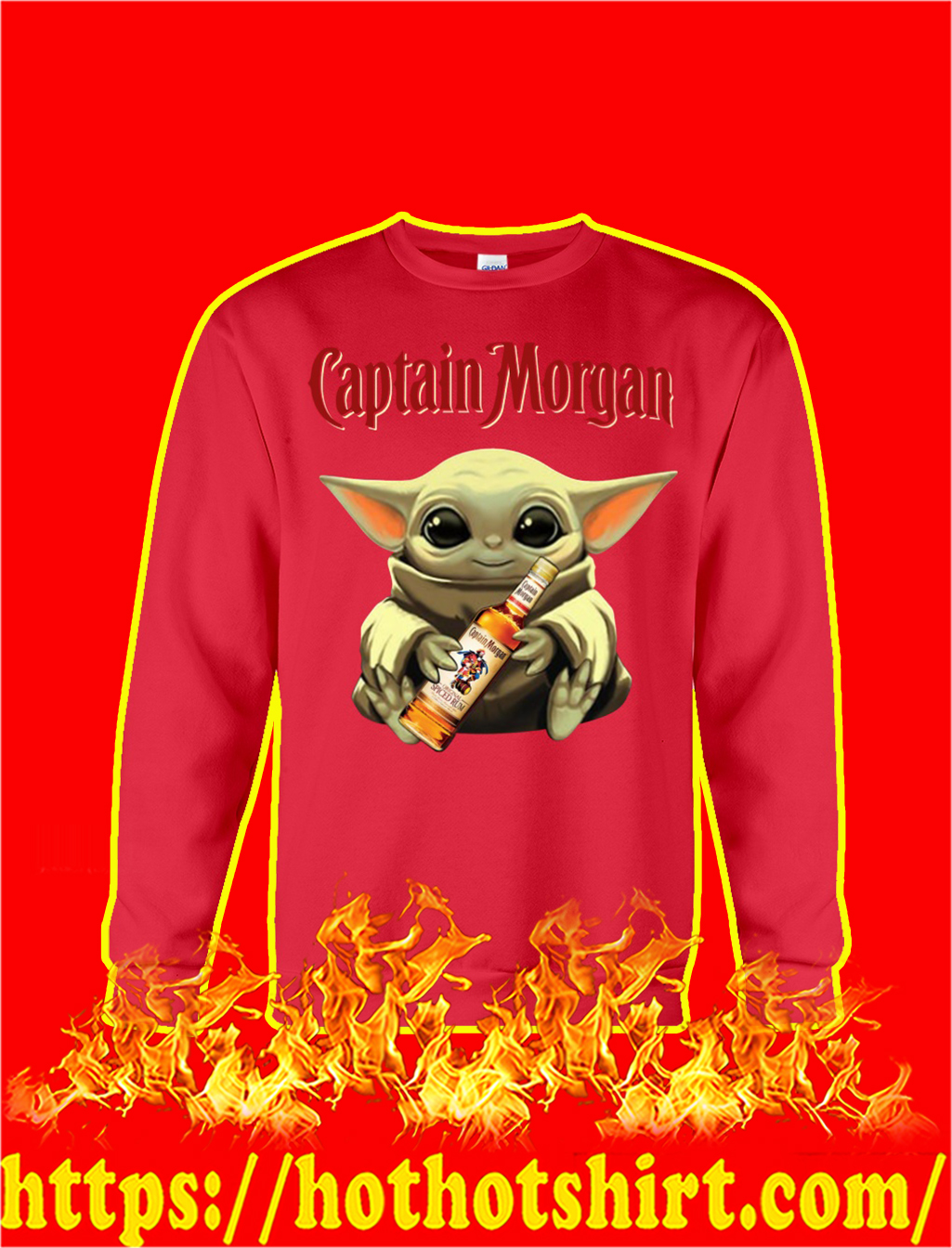 Baby Yoda Hug Captain Morgan sweatshirt