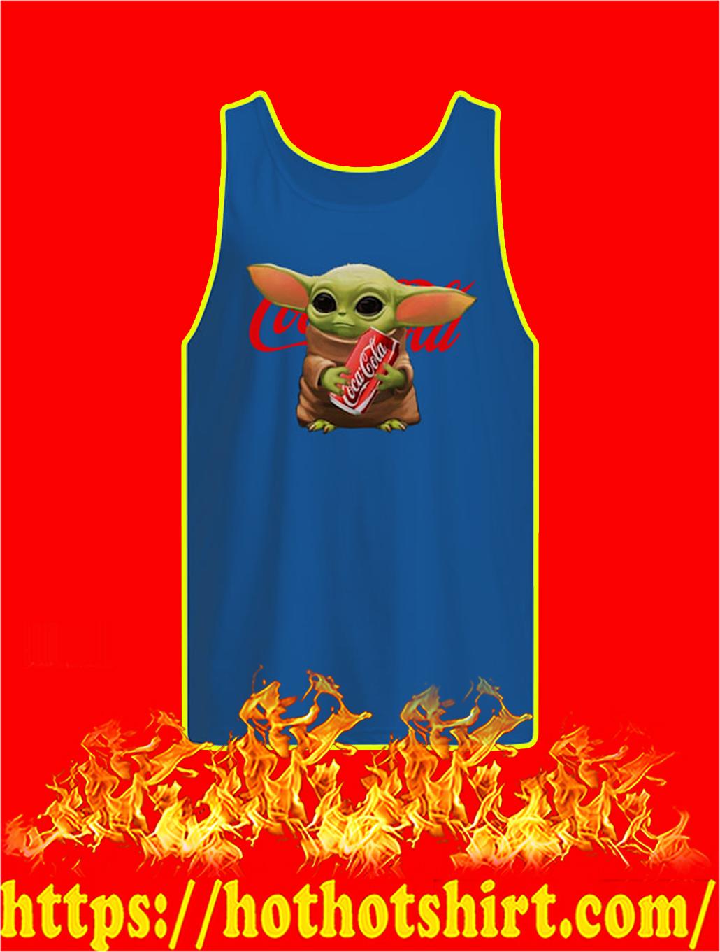 Baby Yoda Hug Coca Cola tank topBaby Yoda Hug Coca Cola tank top