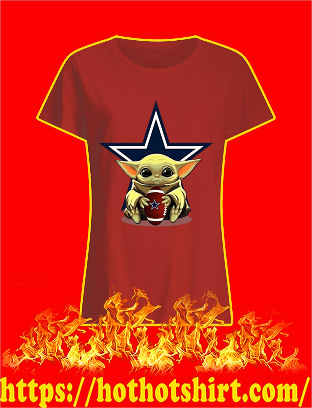 Baby Yoda Hug Dallas Cowboys lady shirt