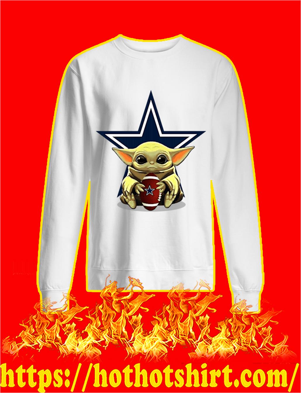 Baby Yoda Hug Dallas Cowboys sweatshirt