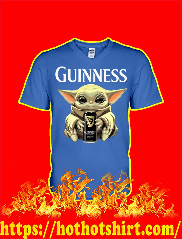 Baby Yoda Hug Guinness v-neck