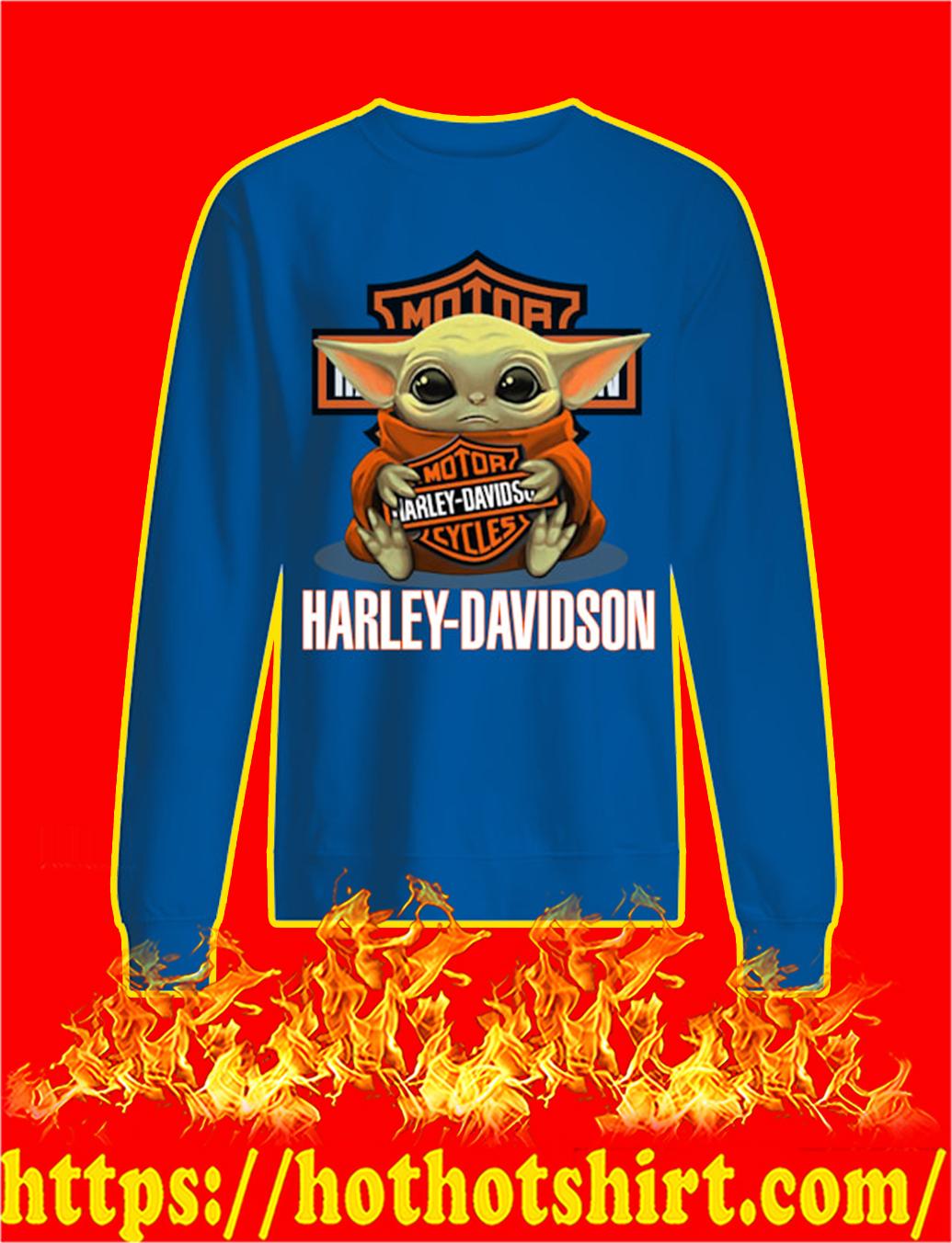 Baby Yoda Hug Harley-Davidson sweatshirt