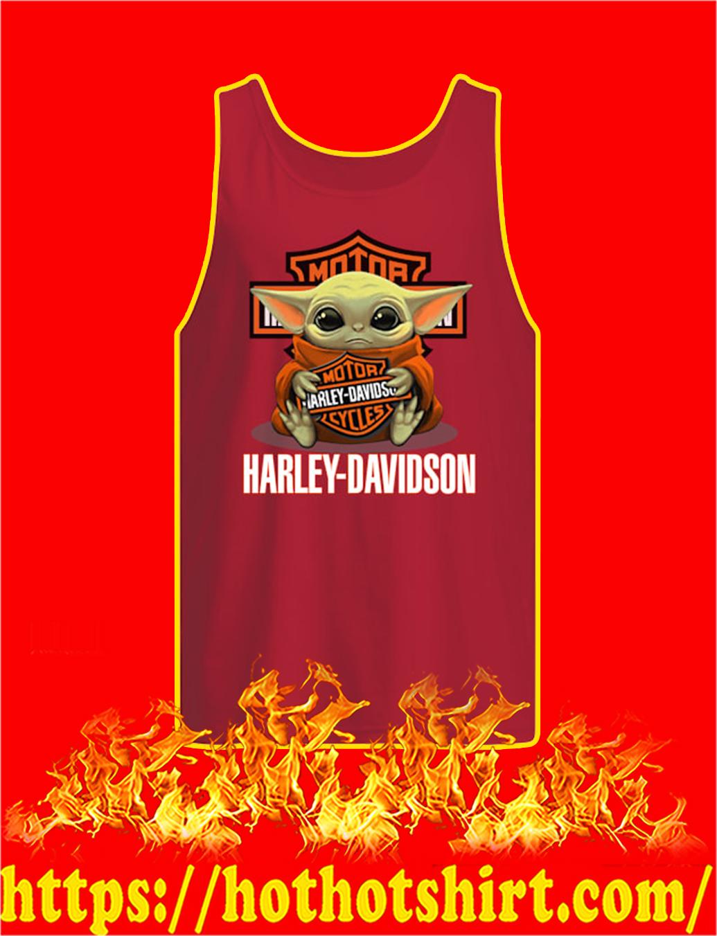Baby Yoda Hug Harley-Davidson tank top