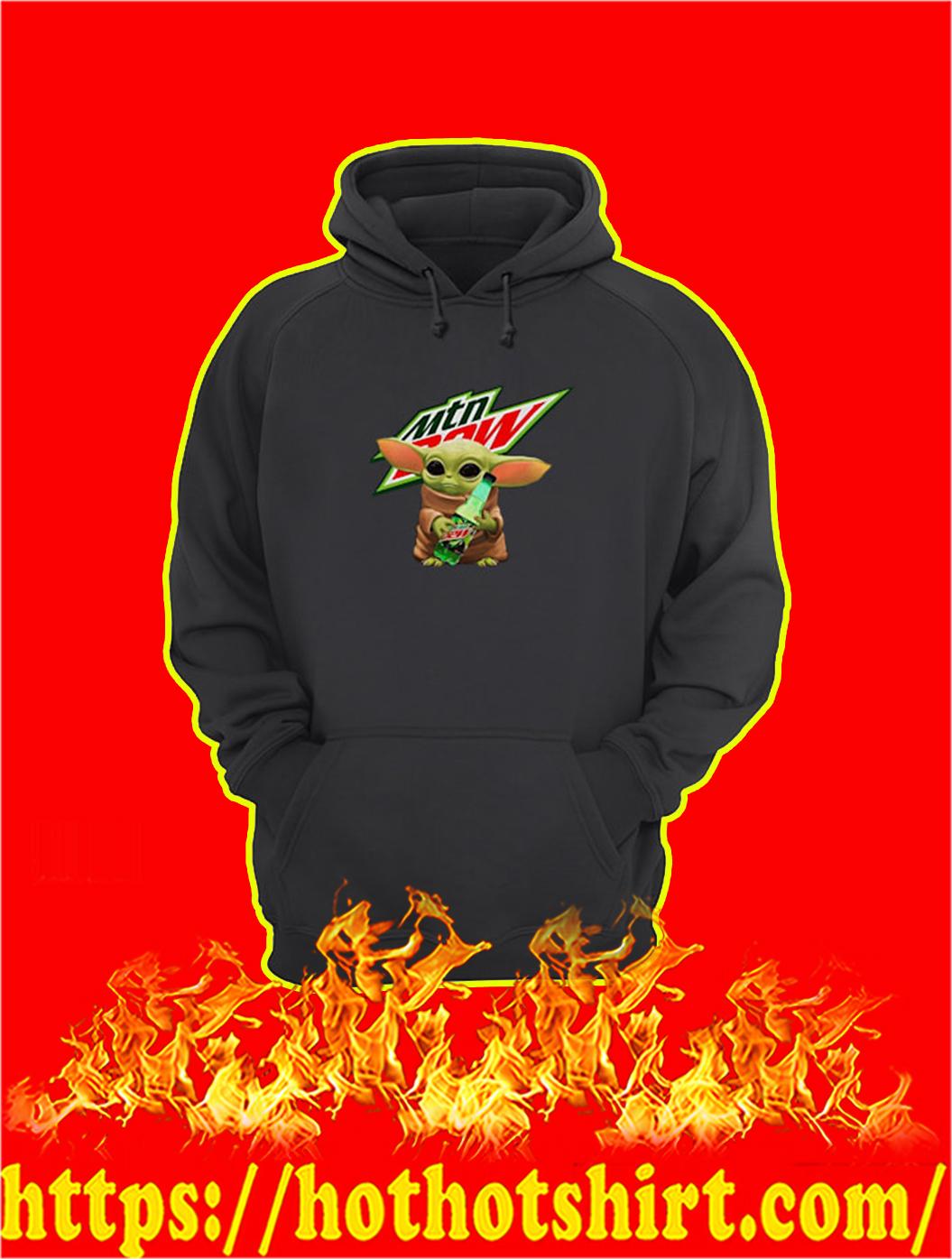 Baby Yoda Hug Mountain Dew hoodie