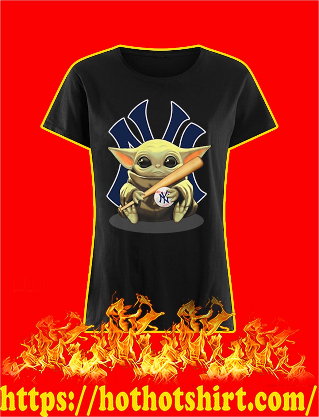Baby Yoda Hug New York Yankees lady shirt