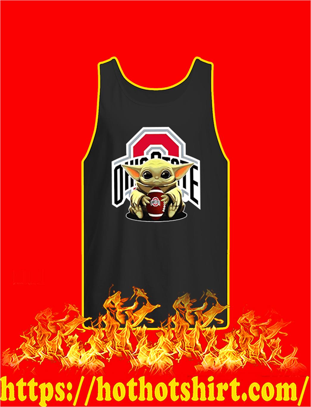 Baby Yoda Hug Ohio State Buckeyes tank top