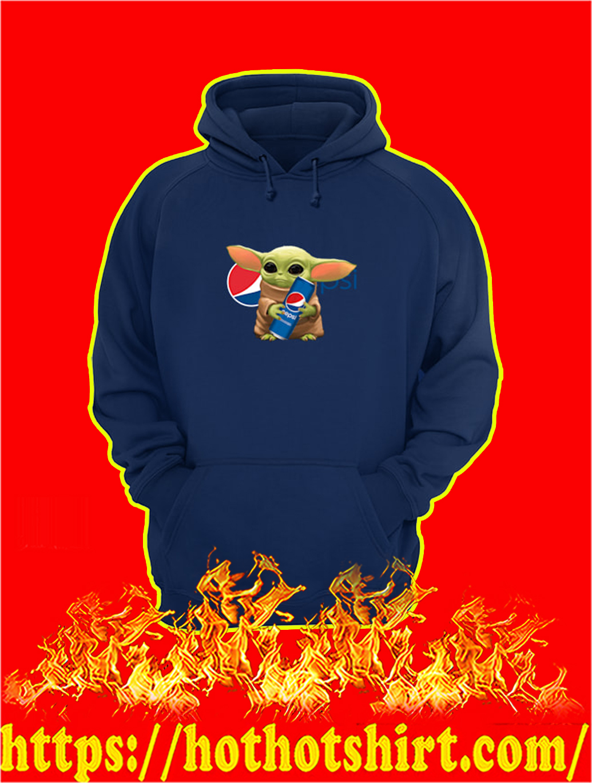 Baby Yoda Hug Pepsi hoodie
