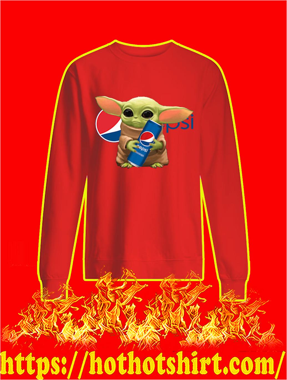 Baby Yoda Hug Pepsi sweatshirt