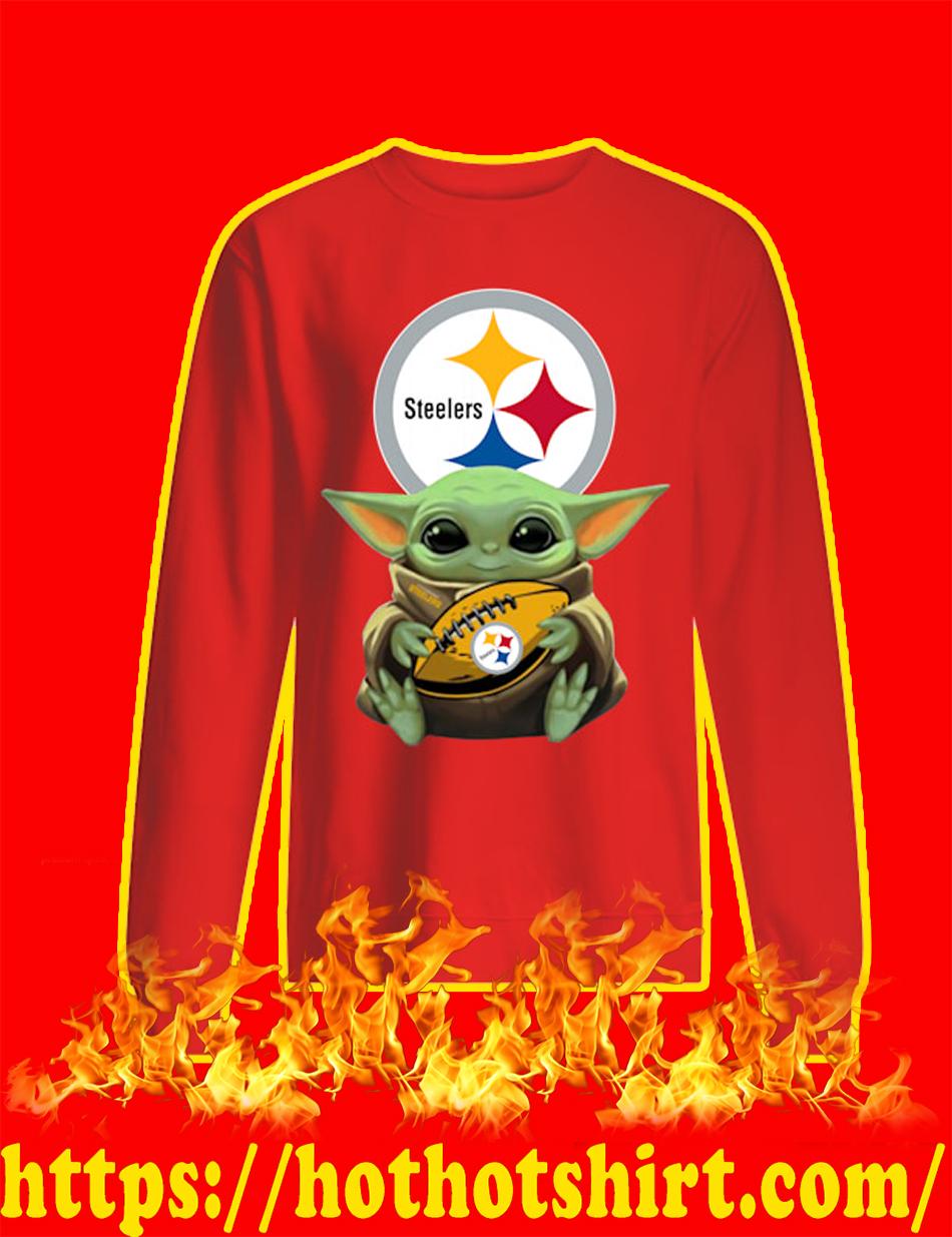 Baby Yoda Hug Pittsburgh Steelers sweatshirt