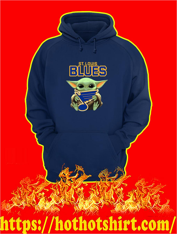 Baby Yoda Hug St Louis Blues hoodie