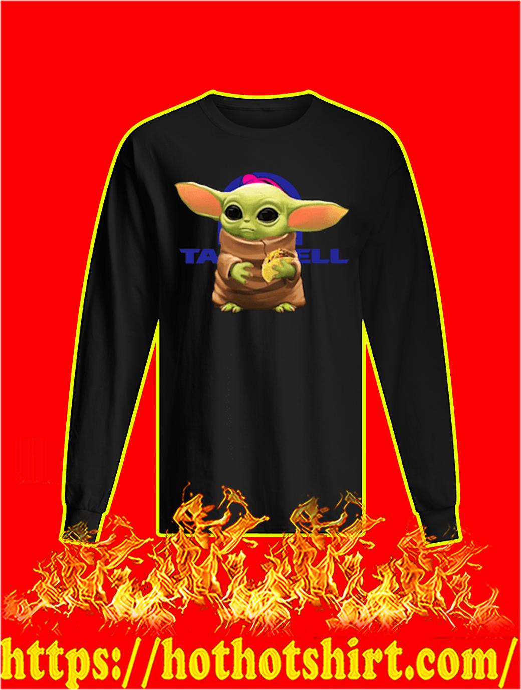 Baby Yoda Hug Taco Bell longsleeve tee