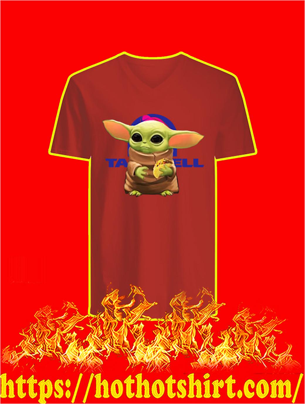 Baby Yoda Hug Taco Bell v-neck