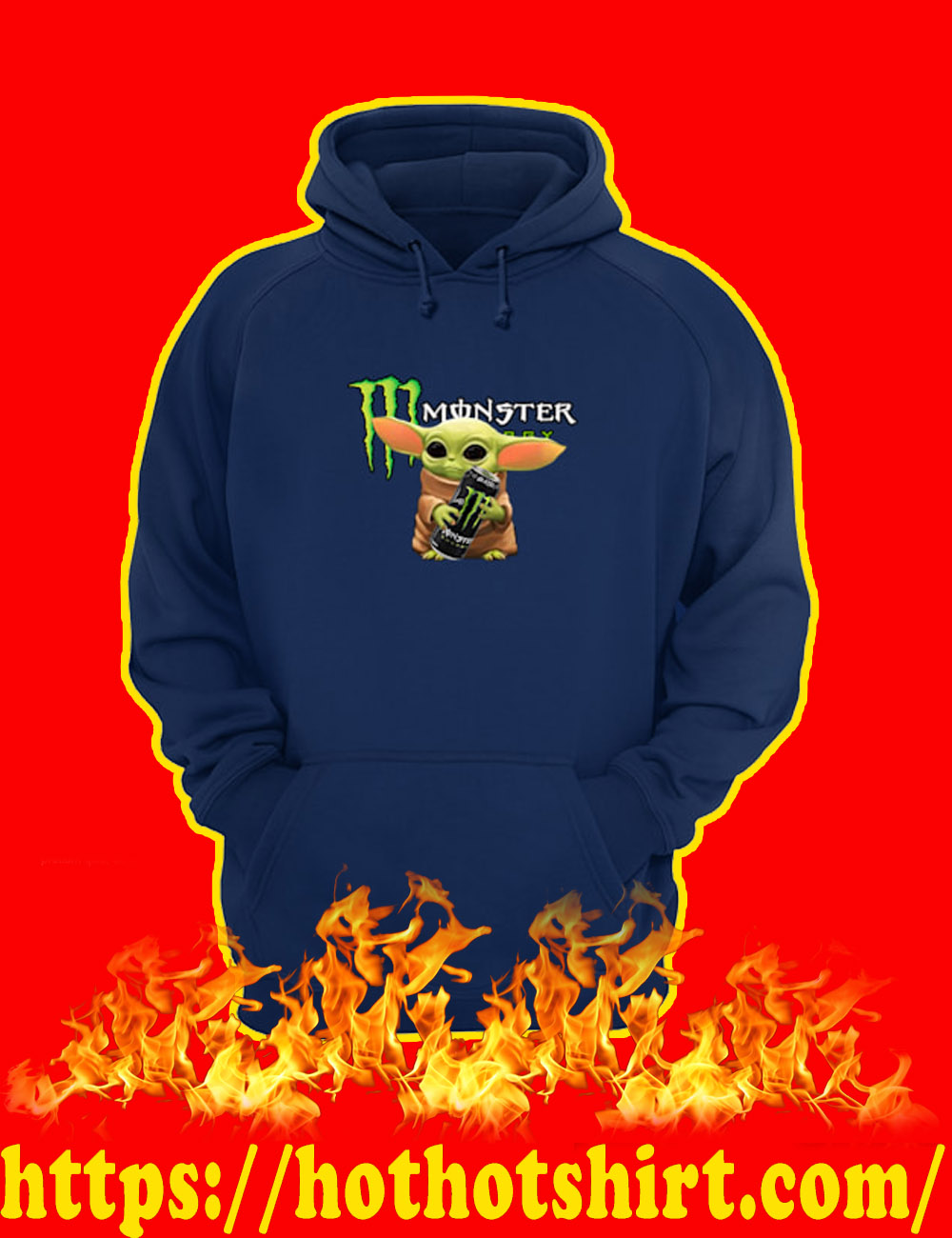 Baby Yoda Monster Energy Hoodie