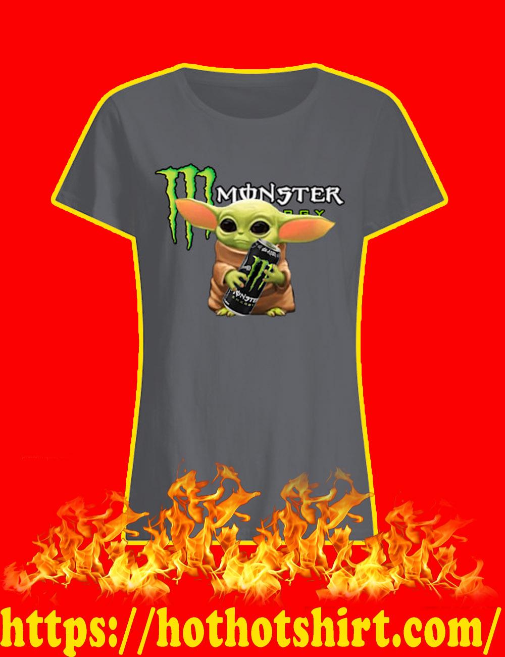 Baby Yoda Monster Energy lady shirt