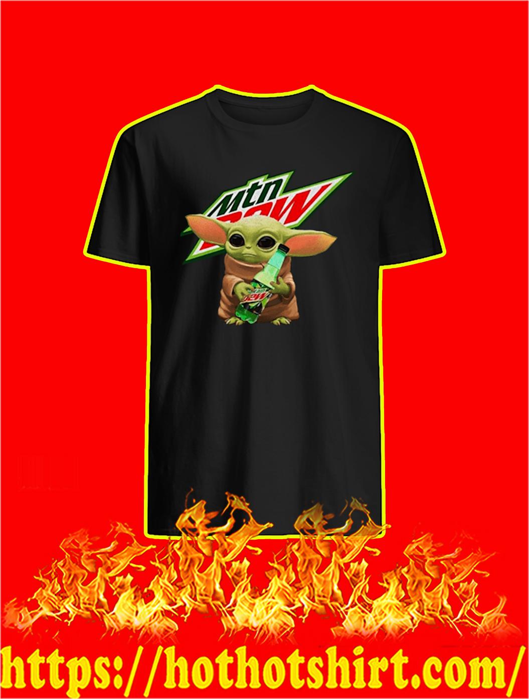 Baby Yoda Mountain Dew shirt