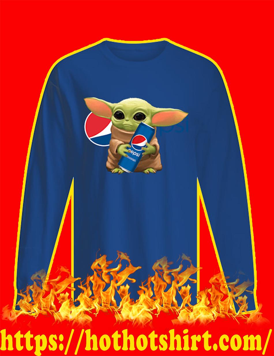 Baby Yoda Pepsi long sleeve tee