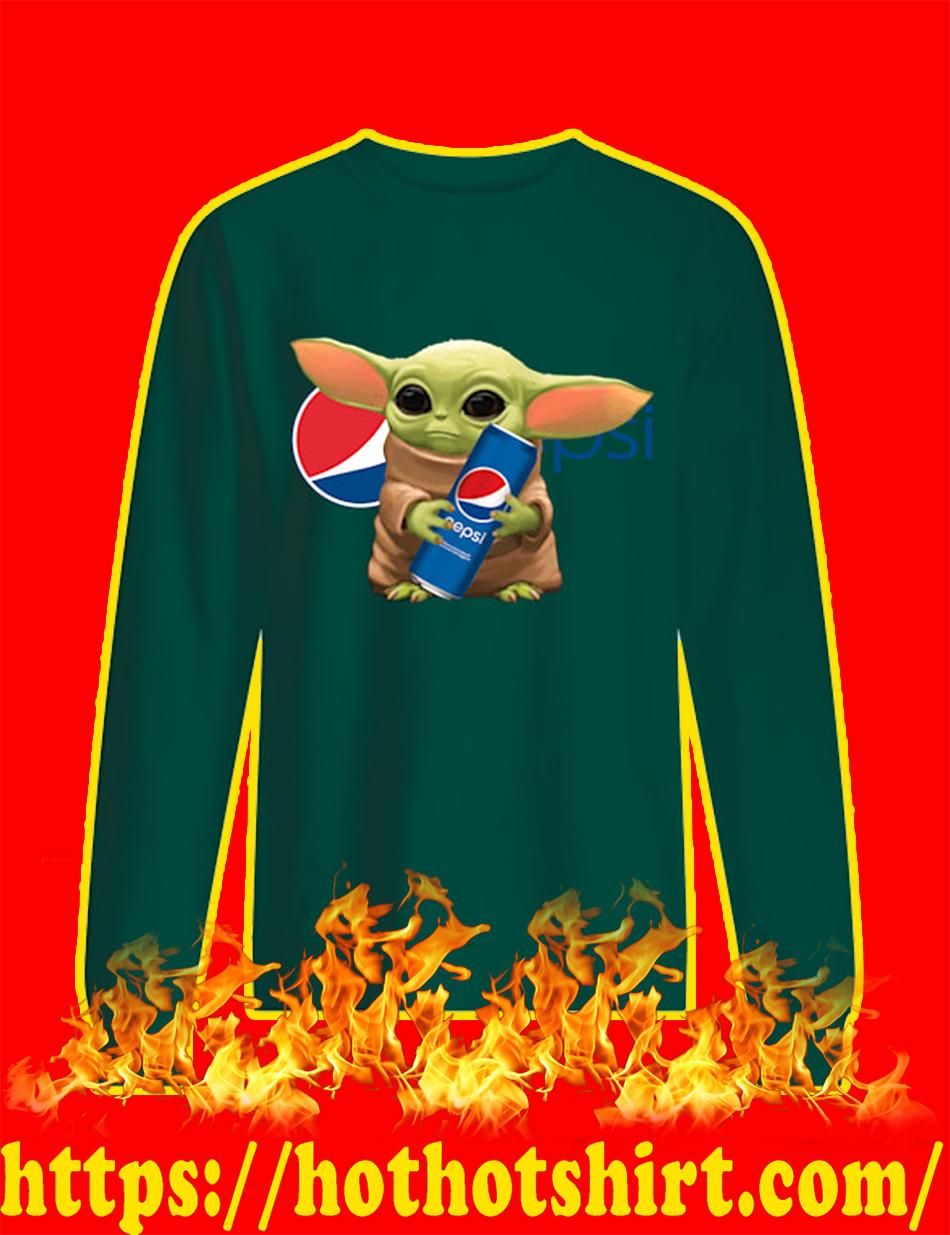 Baby Yoda Pepsi sweatshirt