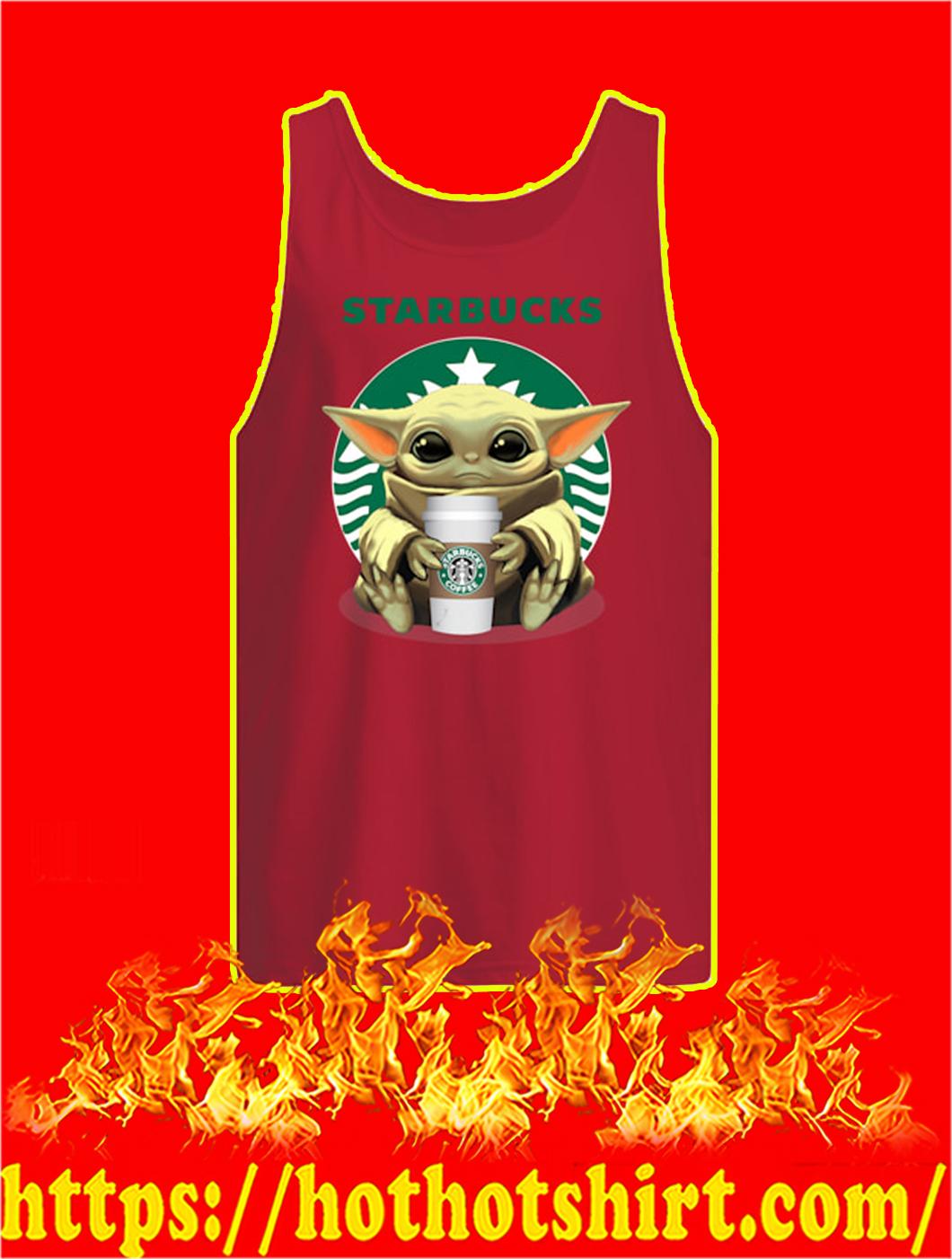 Baby Yoda Starbucks tank top