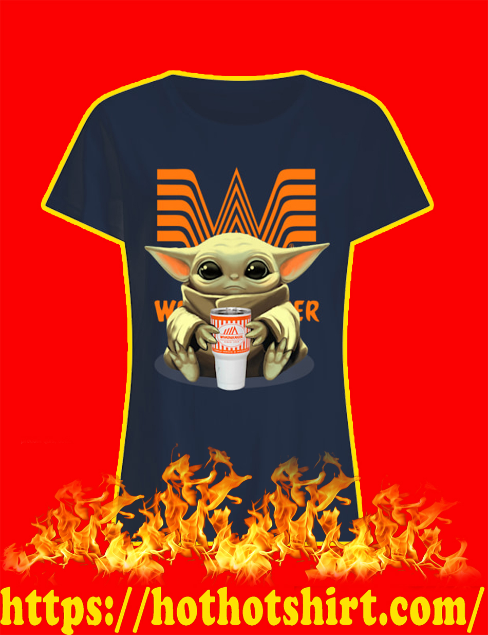 Baby Yoda Whataburger lady shirt