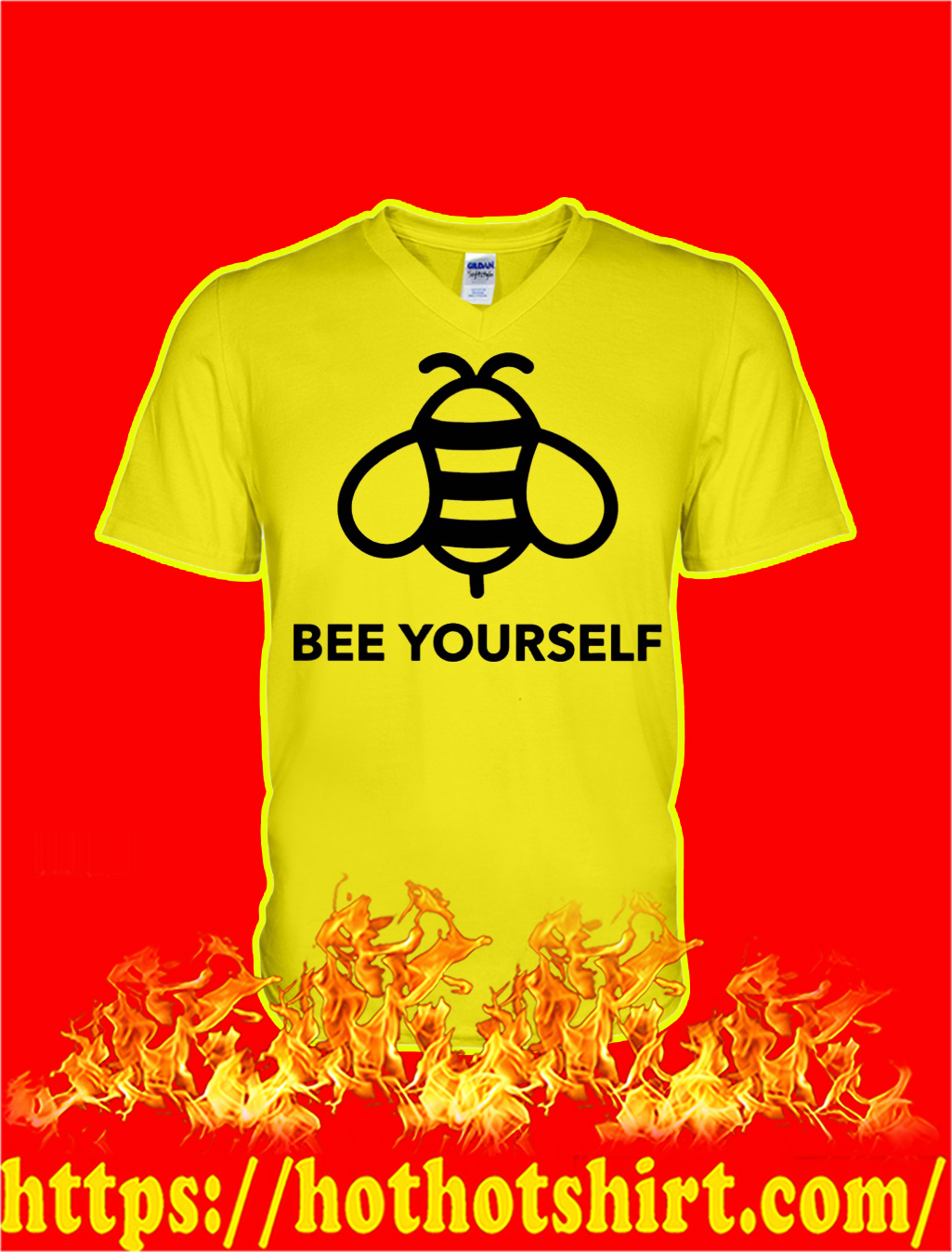 Bee Yourself Down Syndrome v-neck