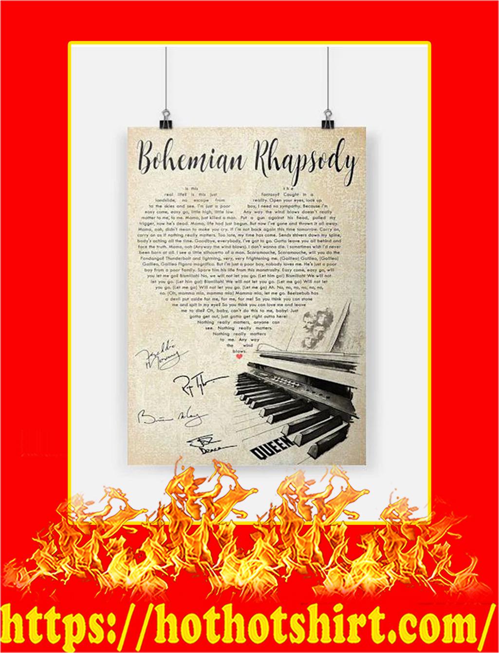 Bohemian Rhapsody Queen Heart Poster - A3