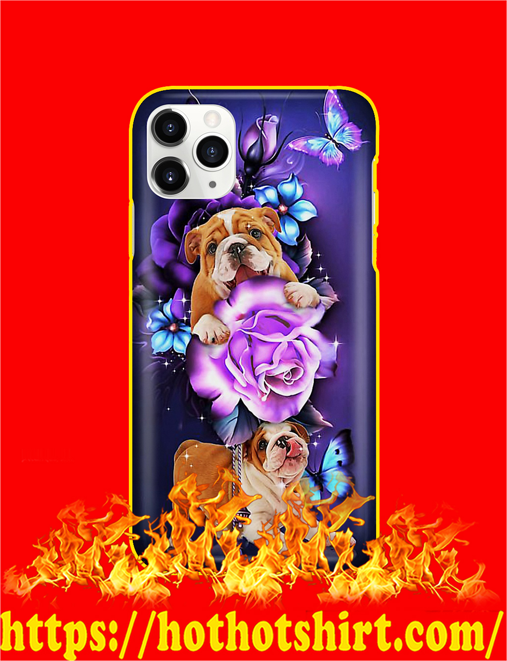 Bulldog Butterfly Magical Phone Case- iphone 11 pro max