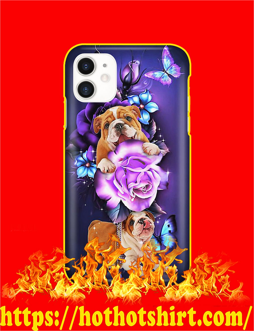 Bulldog Butterfly Magical Phone Case- iphone 11