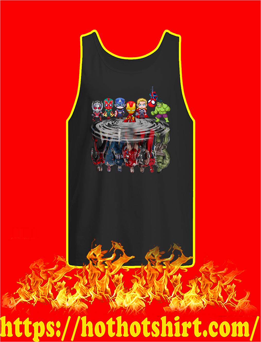 Chibi Avengers Reflection tank top