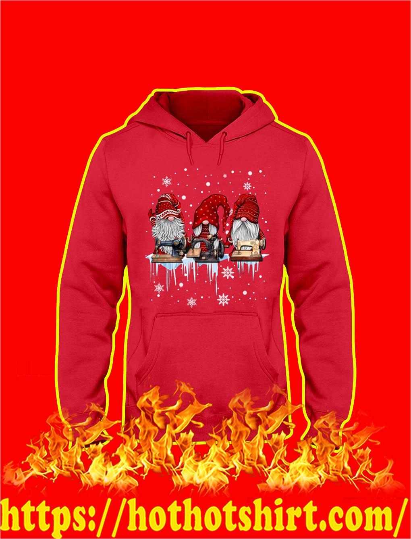 Christmas Gnome Sewing hooded sweatshirt