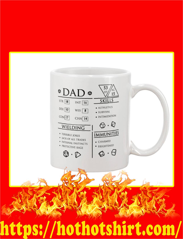 Dad Character Sheet Mug and T-shirt