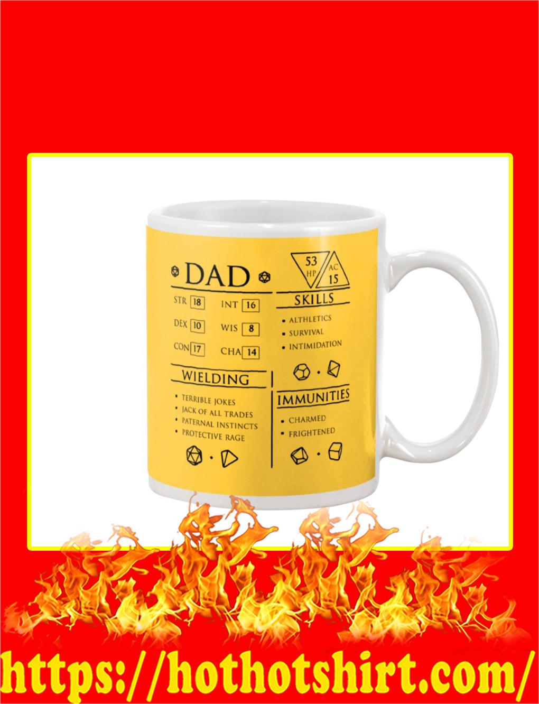 Dad Character Sheet Mug- gold